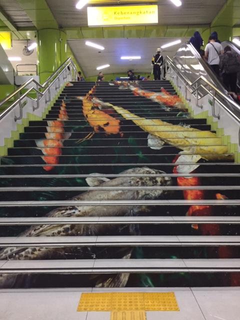 ikan di stasiun